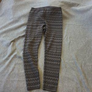 Eddie Bauer Black and Grey Thick Winter Leggings M